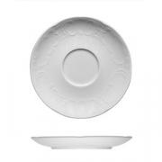 Блюдце «Моцарт», фарфор, D=15.5см, белый