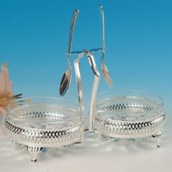 Двойная ваза для варенья c ложками