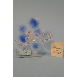 Бонсай с листочками синий, 14 см.