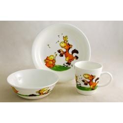 Детский набор посуды из 3-х предметов «Лошадки»