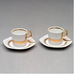 Набор чашек с блюдцем «София» 120 мм на 2 персоны 4 предмета