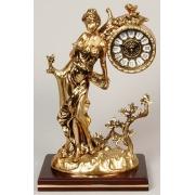 Часы «Дама» на дерев.поаставке золотой 31х23см