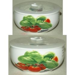 Набор из 2-х салатников с крышками «Помидоры» 16 см и 13 см