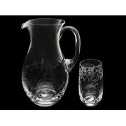 Набор для воды (графин+6 стаканов) Невидимое травление