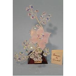 Бонсай с листочками розовый, 22см.