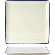 Блюдо квадратное «Блю дэппл» L=27, B=27см; белый, синий