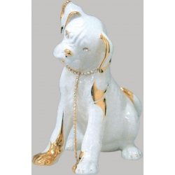 Статуэтка «Собака» (слоновая кость).Керамика.Длина - 23 см, высота -25,5 см