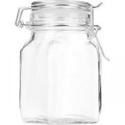 Банка для сыпучих продуктов , стекло силикон, металл; 275мл