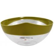 Салатник 28 см пластиковый зеленый