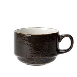 Чашка чайная «Крафт», фарфор, 290мл, D=90,H=65,L=130мм, серый