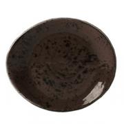 Тарелка пирожковая «Крафт», фарфор, D=155,H=2мм, серый