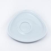 Блюдце 16*16,5см. Муд «Белое»