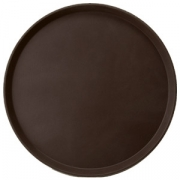 Поднос круг.прорез. d=27.5см коричневый