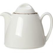 Чайник «Браун дэппл» фарфор; 350мл; белый, коричнев.