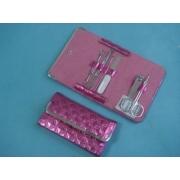 Набор маникюрный 6 пр розовый