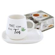 Чашка с блюдцем Kitchen Elements в подарочной упаковке