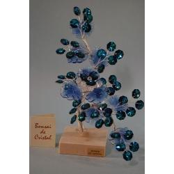 Бонсай с хризантемой синий 21 см