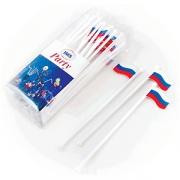 Мешалка для кокт. «Российский флаг» [40шт], пластик, H=200,L=220/85,B=45мм, разноцветн.