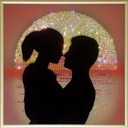 Рассвет любви, 25х25 см, 915 кристаллов