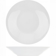 Тарелка глубокая «Коллаж» D=22.5см; белый