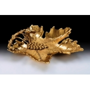 Блюдо «лист» бол. цвет - золото 26х35см