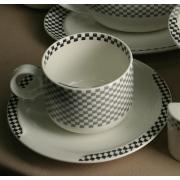 Набор 6 чайных пар 280мл «Дуо Тон»