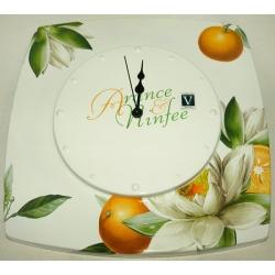 Часы настенные «Апельсины и кувшинки»