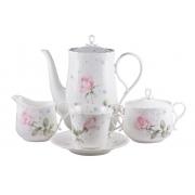 Сервиз чайный 17пр. на 6персон «Апрельская роза»