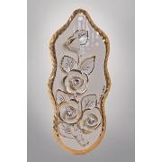 Картина «Розы» 30 см. овальная, золото
