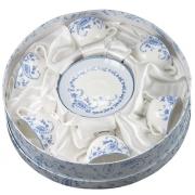 Пара кофейная 6 перс 12 пр Голубые цветы