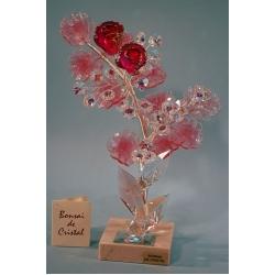 Бонсай с розами розовый 25 см