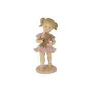 Статуэтка Девочка с мишкой, подарочная упаковка