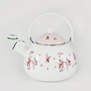 Чайник 2,2л со свистком «Мари Клер» розовый