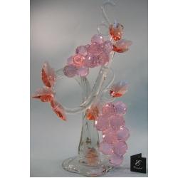 Композиция грозди винограда розовая 60 см.