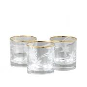 Бокал для виски 6 шт Эдельвейс - золото