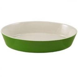 Блюдо для запек. овал. зеленое 30*19см фарф