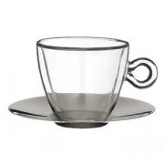 Набор чайн.пар [2шт], стекло,сталь нерж., 300мл