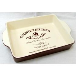 Квадратное блюдо для выпечки «Кухня в стиле Кантри» 27х20 см