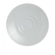 Блюдце «Соната», фарфор, D=13см, белый