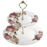 Горка для пирожных, 2 яруса, Торжество роз