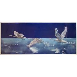 Лебеди, 30х70 см,2328 кристаллов
