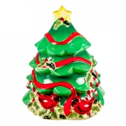 Банка для печенья 25см в виде елки «Винтаж Новогодний»