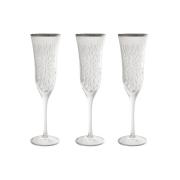 Набор: 6 хрустальных бокалов для шампанского Умбрия Матовая - платина