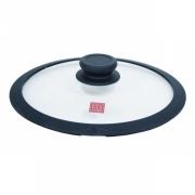 Крышка, 24 см, стеклянная с силиконовым ободком, Solution accessory