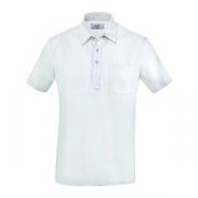 Рубашка поло мужская,размер S, хлопок,эластан, белый