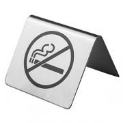 Табличка «Не курить», сталь нерж., H=40,L=63,B=55мм, металлич.