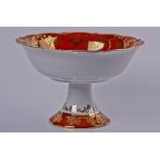 Салатник «Охота красная» 23 см. на ножке