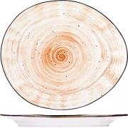 Тарелка мелкая «Пастораль» H=2.7, L=27см; оранжев.