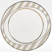 Набор подстановочных тарелок «Серые полоски» на 6 персон