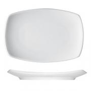 Тарелка прямоуг. «Опшенс», фарфор, L=14см, белый